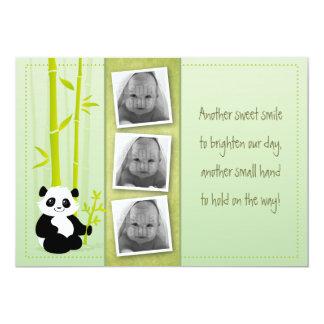 Bambou de panda - carte de faire-part de naissance carton d'invitation  12,7 cm x 17,78 cm