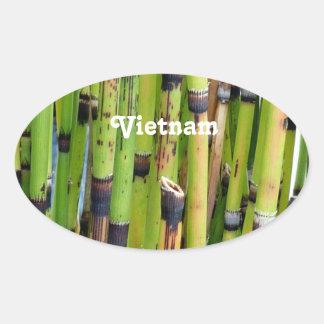 Bambou du Vietnam Sticker Ovale