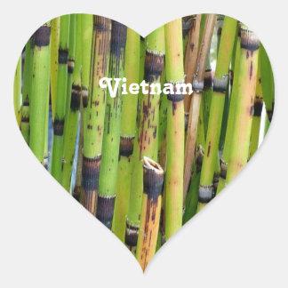 Bambou du Vietnam Sticker Cœur