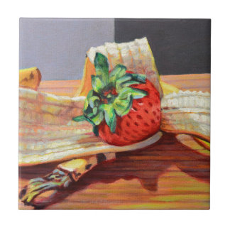 Banana split de fraise carreau
