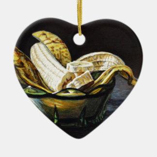 Banane de cygne ornement cœur en céramique