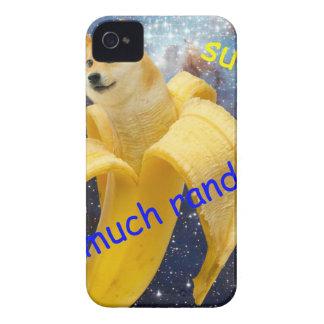 banane   - doge - shibe - l'espace - wouah doge coque iPhone 4 Case-Mate