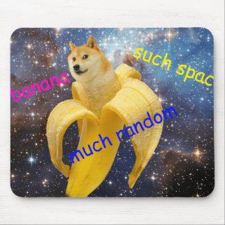 banane   - doge - shibe - l'espace - wouah doge tapis de souris