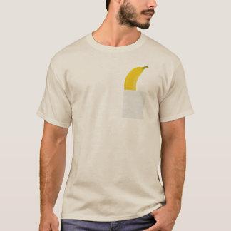 Banane drôle dans votre T-shirt de poche