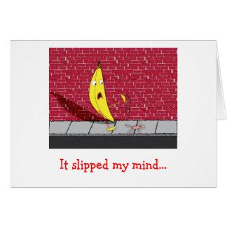 Banane glissant - elle a glissé ma carte de voeux