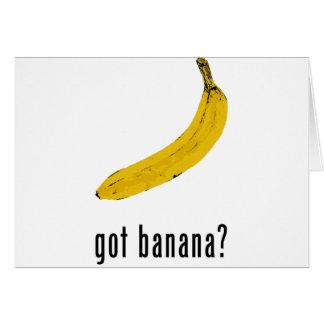 Banane obtenue ? cartes
