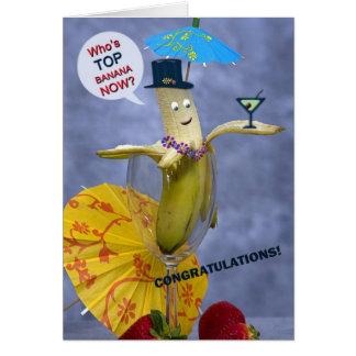 Banane supérieure de félicitations cartes