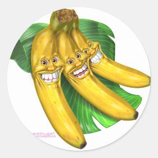 bananes sticker rond
