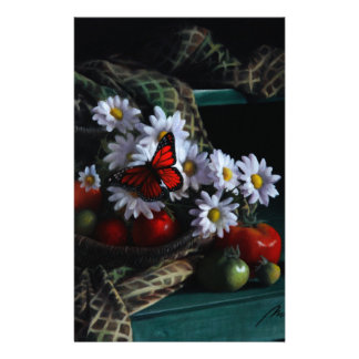 Banc de jardinage motifs pour papier à lettre