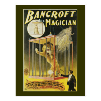 Bancroft le magicien c 1897 carte postale