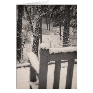 Bancs couverts par neige cartes