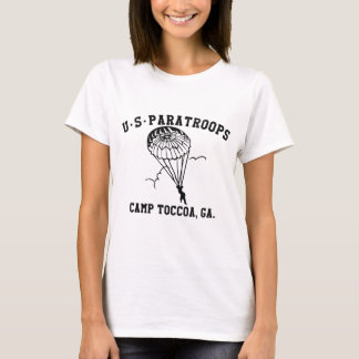 Band of Brothers Currahee US Paratrooper Toccoa T-shirt