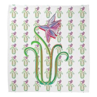 """BANDANA 19"""" fleurs COLORÉES carrées florales"""