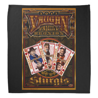 Bandana 2 de noir de la Réunion de Vaughn de