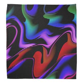 Bandana abstraction chaude avec les lignes 2