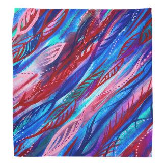 Bandana abstrait coloré d'aquarelle de feuille
