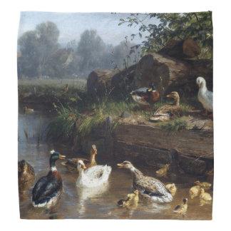 Bandana animal d'étang de faune d'oiseaux de