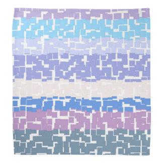 Bandana Aqua/lavande/beige/rose/pourpre/bleu multicolores