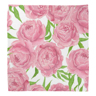 Bandana Aquarelle rose de pivoines