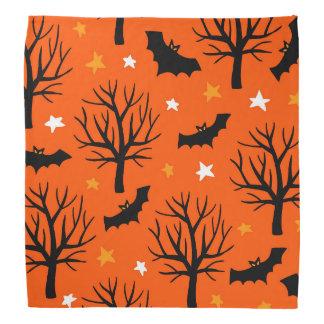 Bandana Arbre éffrayant de Halloween avec des battes et