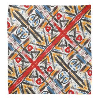 Bandana Art géométrique abstrait peint parMain moderne