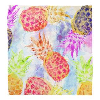 Bandana Belle aquarelle de motif tropical d'ananas