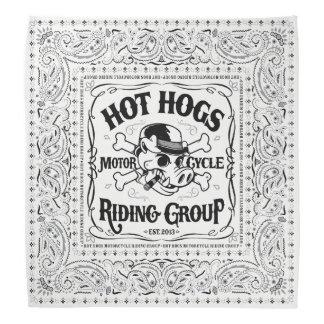 Bandana blanc classique chaud de Hogs™