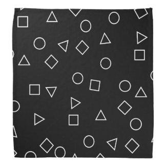 Bandana Blanc géométrique minimaliste élégant de noir de