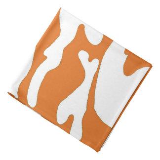Bandana blanc orange brûlé du Texas de camouflage