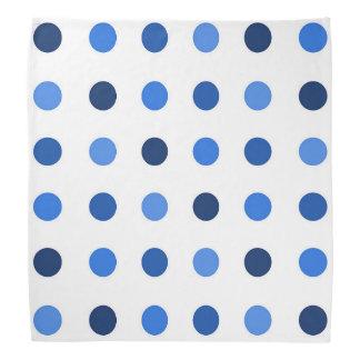 Bandana Bleu de Polkadot