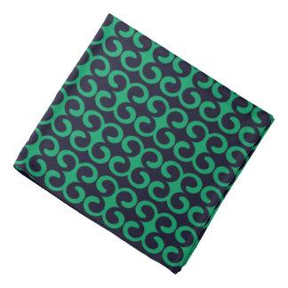 Bandana Bleu marine/motif élégant vert irlandais de rayure