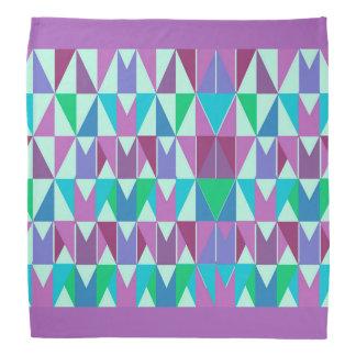 Bandana Chiffon avec l'échantillon de triangle de couleur