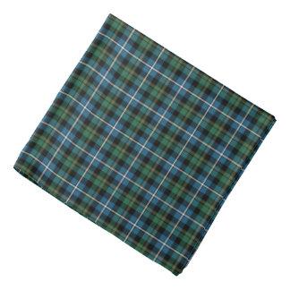 Bandana Clan tartan écossais vert et bleu de MacRae de