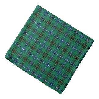 Bandana Clan tartan vert clair, bleu et noir de Henderson