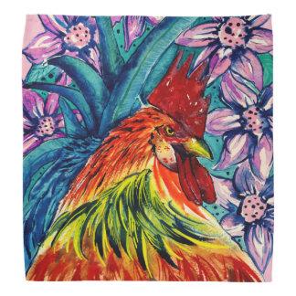 Bandana coloré de couleur pour aquarelle de coq