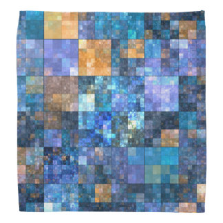 Bandana coloré de motif de mosaïque élégante