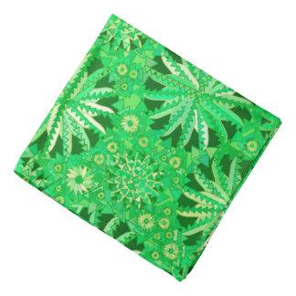 Bandana Copie tribale de mandala, émeraude et vert de