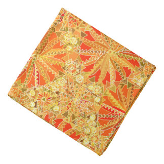 Bandana Copie tribale de mandala, or de moutarde et orange