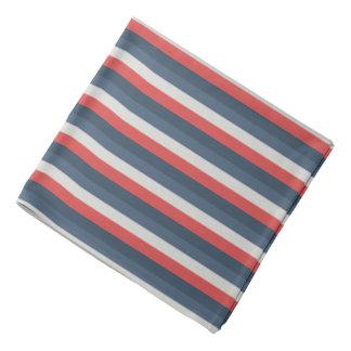 Bandana Couleur quatre combinée - bleu-foncé bleu gris
