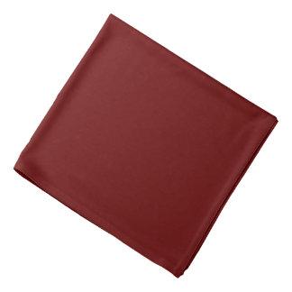 Bandana couleur rouge sang
