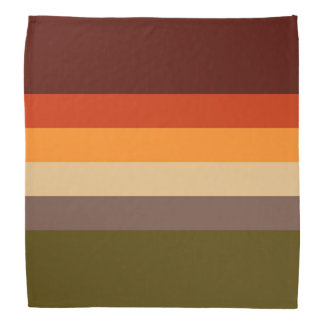 Bandana Couleurs d'automne - jaune orange rouge Brown vert