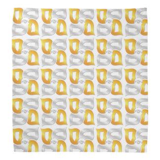 Bandana de blanc de quatre éléments