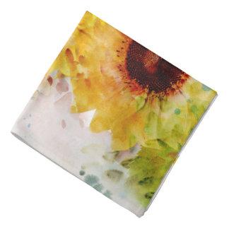 Bandana de tournesols d'aquarelle
