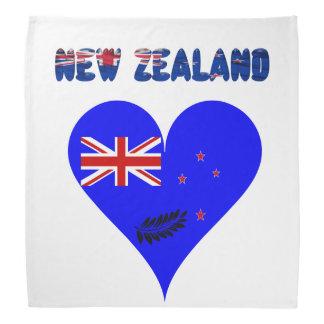 Bandana Drapeau de coeur de la Nouvelle Zélande