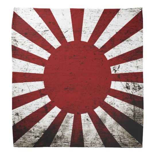bandana drapeau grunge noir du japon soleil levant. Black Bedroom Furniture Sets. Home Design Ideas
