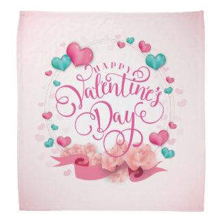 Bandana élégant de Saint-Valentin de coeurs de
