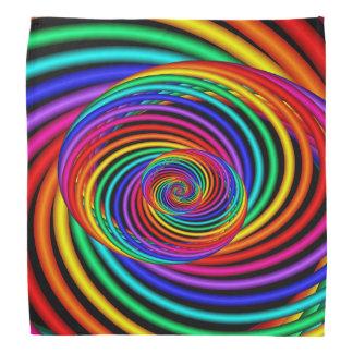 Bandana en spirale de l'arc-en-ciel 3D