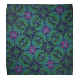 Bandana Fuchsia de vert bleu de conception de Jimette de