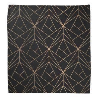 Bandana géométrique abstrait du motif | d'or