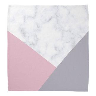 Bandana géométrique pourpre de marbre blanc élégant de